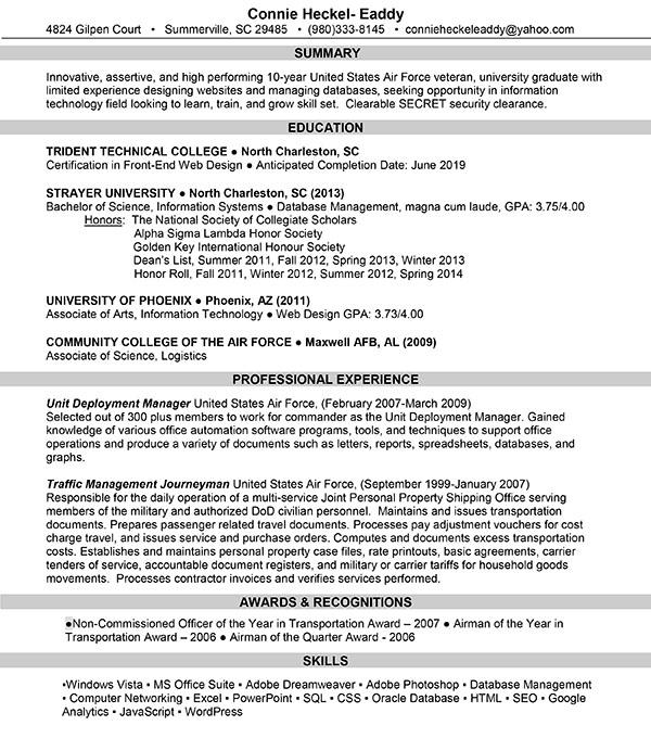 Resume – Connie Eaddy